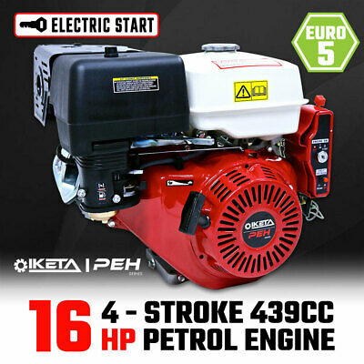 16HP OHV Petrol Engine Stationary Motor Horizontal Shaft Electric Start