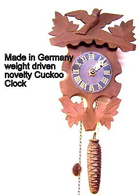 Vintage , very old weight driven Cuckoo Style Clock , selling as-is, as-found