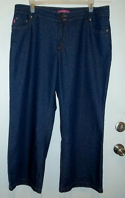 Woman Within Straight Leg 100% Cotton Jeans 18WP 18 WP (41 x 29.5) EUC