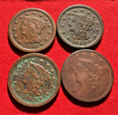 1847, 1848, 1849,  & possible 1850 Series Dates U.S. Large Cents