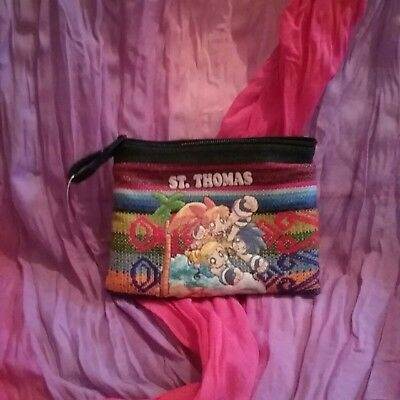 Powerpuff Girls Embroidered Coin Purse Anime St Thomas Unique Collectible Zipper