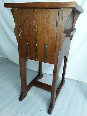 antique Mission Oak Cabinet Arts Crafts Smoking stand Night vtg.  West Branch Co