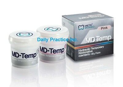 Meta Biomed MD-Temp Hydraulic Temporary Restorative Filling White or Pink 40gm