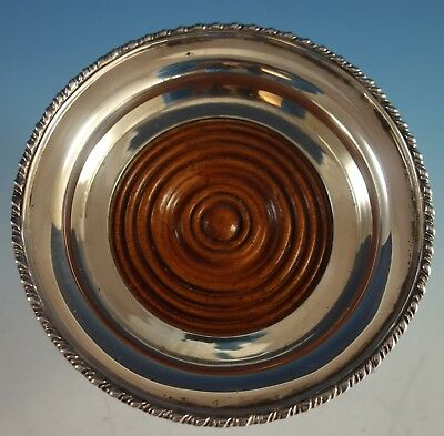 Tane Mexican Mexico Sterling Silver Wine Coaster with Mahogany Wood (#2113)