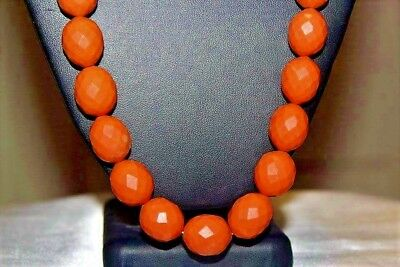 Antique Art Deco Bakelite Russian Faceted Molded 80G Necklace FNP1