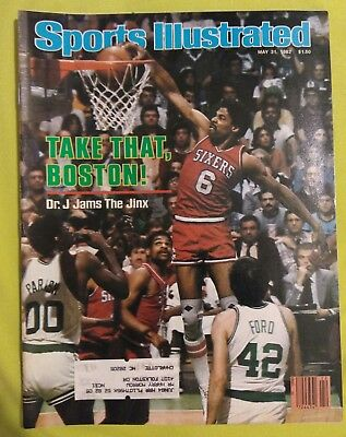 Sports Illustrated Magazine May 31, 1982 Dr. J Jams The Jinx Boston