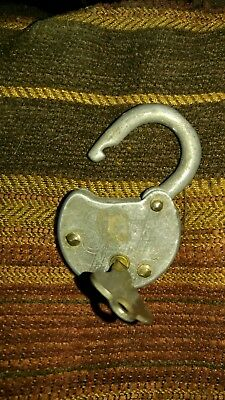 Vintage Old Safe Padlock lock Nice Condition WITH Key
