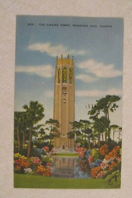 d208 vintage postcard The Singing Tower Mountain Lake Florida FL
