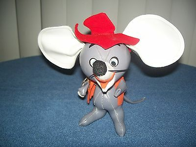"Vintage Vinyl Toy Country Mouse 6 1/2"" Stuffed Animal"