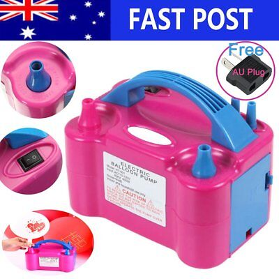 Portable Electric Balloon Pump Ballon Inflator 600W Power Twin Nozzles AU