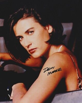 Autographed 8 X 10 Glossy Photograph of Actress Demi Moore