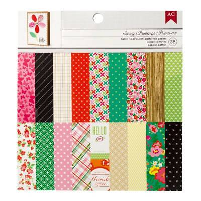 "NEW American Crafts Spring 36 Sheets 6"" Paper Pad By Spotlight"