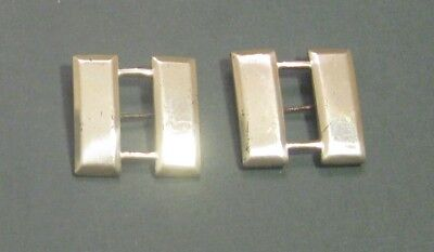 WW2 US Army Captain Bars Sterling Silver Pins