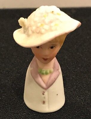 Vintage Enesco Collectible Porcelain Lady In A Hat T- 210