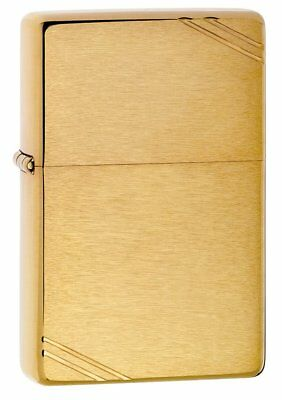 ZIPPO Brushed Brass 1937 Vintage Series w/ Slashes Windproof Lighter New! 240
