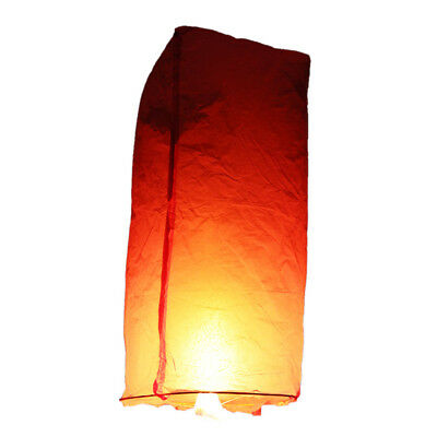 Pink White Paper Chinese Lanterns Sky Fire Fly Candle Lamp Wish Party Wedding US
