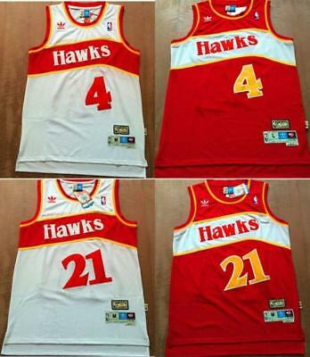NEW Atlanta Hawks 1986 Spud Webb #4 & Dominique Wilkins #21 jersey