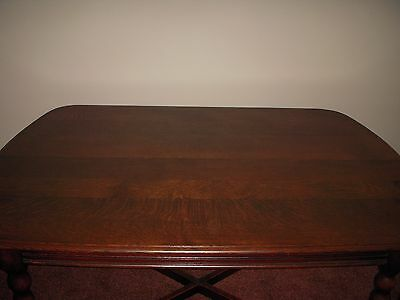 Vintage Solid Oak Dining / RefectoryTable, with two Chairs