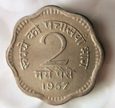 1957 (c) INDIA 2 PAISA - High Quality Collectible - FREE SHIPPING - BIN #HHH