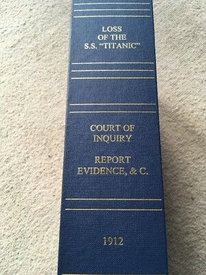 Rare UK Board Of Trade Titanic Inquiry Limited Edition Signed By Millvina Dean