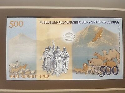 Noah's ARK 500 DRAM Drams 2017Armenian UNC banknote In Original Packing colector