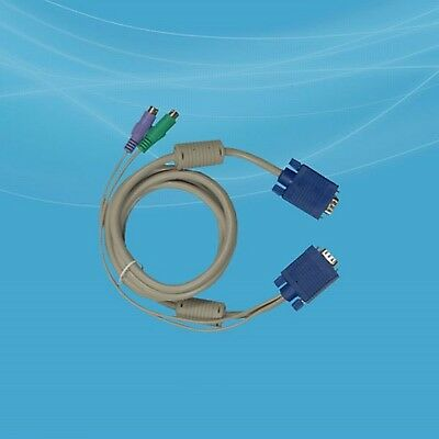 KVM Console switch signal cable 70 in / 180 cm 2x PS/2 / HDDB-15 pin VGA KC-1501