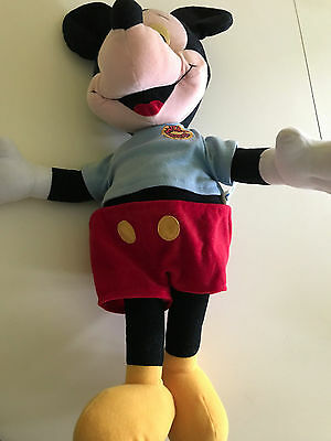 Disney Pull String Talking Mickey Mouse Large 22 Inc Plush Cuddly Toy Ultra Rare