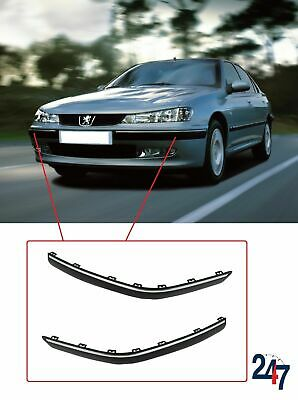 New Peugeot 406 99-04 Front Bumper Moulding Trim Plastic Chrome Pair Right Left