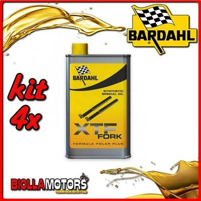 KIT 4X 500ML OLIO BARDAHL XTF FORK SYNTHETIC OIL OLIO FORCELLA 1/2 LT - 4x 44503