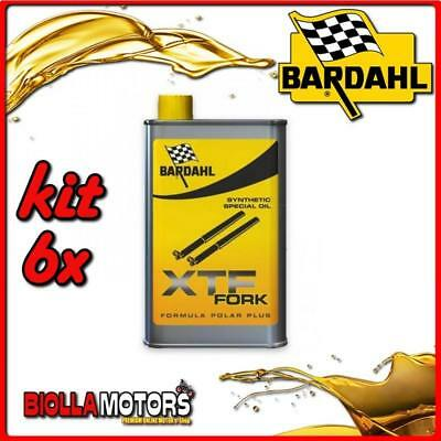 KIT 6X 500ML OLIO BARDAHL XTF FORK SYNTHETIC OIL OLIO FORCELLA 1/2 LT - 6x 44503