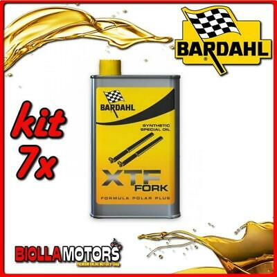 KIT 7X 500ML OLIO BARDAHL XTF FORK SYNTHETIC OIL OLIO FORCELLA 1/2 LT - 7x 44503