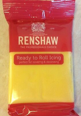 250g PASTEL YELLOW Renshaw Regalice / Decorice - roll out sugarpaste / icing