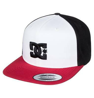 Dc Shoes Mens Baseball Cap.new Snappy Black/Red Flat Peak Snapback Hat 8S 75 Xkk
