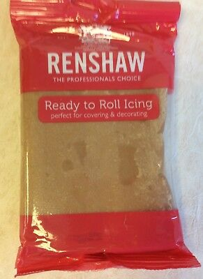 250g TEDDY BEAR BROWN Renshaw Regalice / Decorice - roll out sugarpaste / icing
