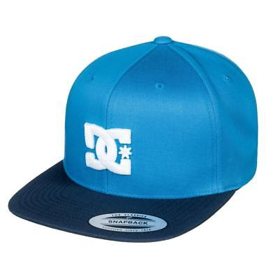 Dc Shoes Mens Baseball Cap.new Snappy Blue Flat Peak Snapback Hat 8S 75 Blv0