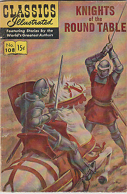 Classics Illustrated #108 Knights of the Round Table HRN166 FREE USA SHIP