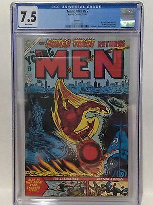 Young Men 25 Cgc Graded 7.5 White Pages 1994 Reprint
