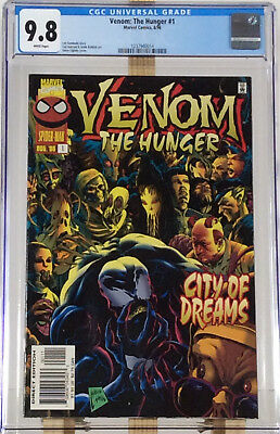 Venom The Hunger #1 CGC 9.8 White HIGHEST GRADED Marvel Comics Movie #1237940014