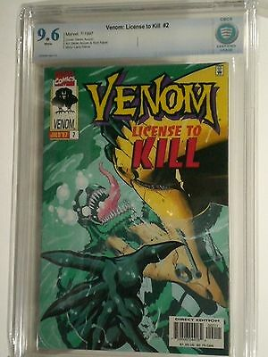 Venom:  License To Kill 2  Cbcs 9.6  White Pages Marvel Comics Not Cgc