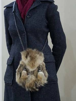 New Scottish Fox Fur Sporran With 3 Tassels & Belt & Chain 100% Leather