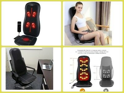 Neck Back Shiatsu Massage Seat Cushion With Heat For Car Support Chair Cover
