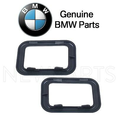 For BMW E23 E28 E30 Set of Two Front Covering-Inside Door Handles Black Genuine