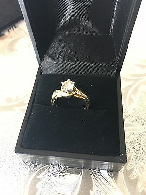 18k/ct Solid Yellow Gold Diamond Ring