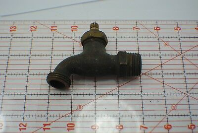 Antique Vintage heavy red Brass Faucet Hose Bib