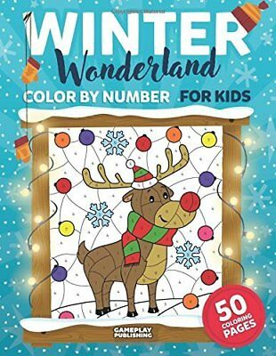 CHRISTMAS COLOR BY Number for Kids: Christmas Coloring Activity Book ...