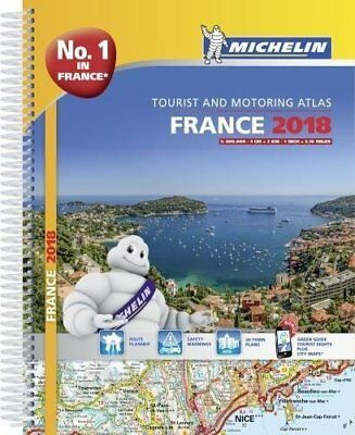 France 2018 - Tourist & Motoring atlas A4-Spiral (Michelin Road Atlases) by Mich
