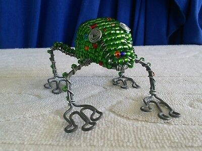Handcrafted Wire Beaded Frog