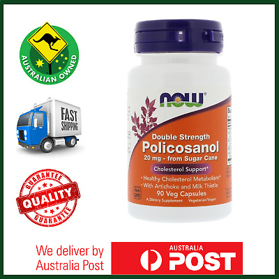 Policosanol 20mg, Double Strength, 90 Caps by NOW Foods - Healthy Cholesterol