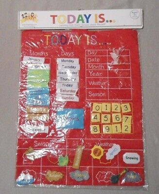 NEW Today Is Children's Calendar Learning Wall Chart by Alma's Design - Red