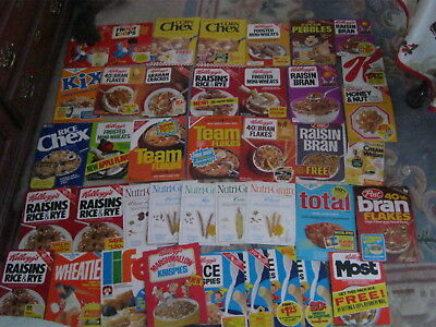 40 Different Vintage Old Cereal Box Fronts From 1970's To Early 80's Scarce !!